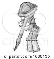 Poster, Art Print Of Sketch Explorer Ranger Man Cutting With Large Scalpel