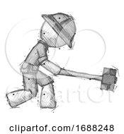 Sketch Explorer Ranger Man Hitting With Sledgehammer Or Smashing Something