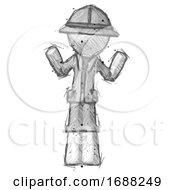 Sketch Explorer Ranger Man Shrugging Confused