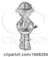 Sketch Explorer Ranger Man Serving Or Presenting Noodles