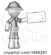 Sketch Explorer Ranger Man Holding Large Envelope