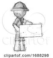 Sketch Explorer Ranger Man Presenting Large Envelope