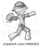 Sketch Explorer Ranger Man Throwing Football