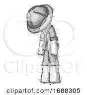 Sketch Explorer Ranger Man Depressed With Head Down Turned Left