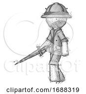 Sketch Explorer Ranger Man With Sword Walking Confidently