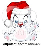 Waving Christmas Polar Bear by yayayoyo