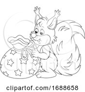 Squirrel With A Gift Bag