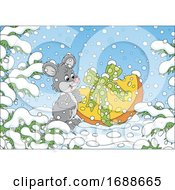 Poster, Art Print Of Mouse With A Gift Of Cheese