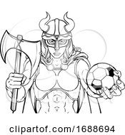 Viking Female Gladiator Soccer Warrior Woman