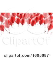 Red Party Balloons Background