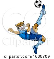 Wildcat Soccer Football Player Sports Mascot