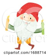 Iceland Yule Lad Candle Stealer Illustration
