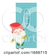 Iceland Yule Lad Door Slammer Illustration