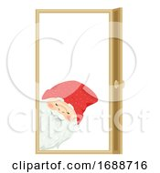 Iceland Yule Lad Door Sniffer Illustration