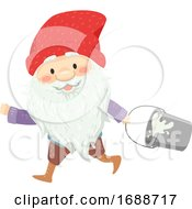 Iceland Yule Lad Gully Gawk Illustration