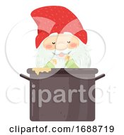 Iceland Yule Lad Pot Scrapper Illustration
