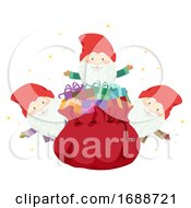 Iceland Yule Lads Gifts Bag Illustration