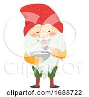 Iceland Yule Lad Skyr Yogurt Gobbler Illustration