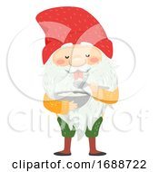 Iceland Yule Lad Skyr Yogurt Gobbler Illustration