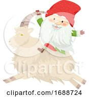 Iceland Yule Lad Sheep Cote Clod Illustration