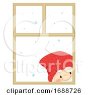 Iceland Yule Lad Window Peeper Illustration