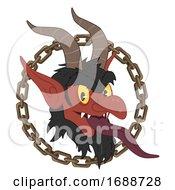 Krampus Chain Austria Christmas Icon Illustration