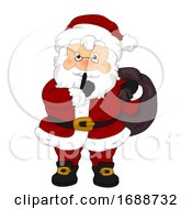 Santa Claus Bag Secret Quiet Finger Illustration
