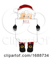 Santa Claus Blank Nice List Illustration