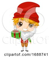 Kid Boy Iceland Yule Lad Gift Illustration