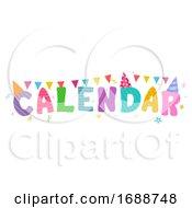 Calendar Celebration Lettering Bunting