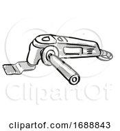 Multi Function Tool Power Tool Equipment Cartoon Retro Drawing