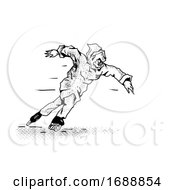 Phantom Inline Speed Skater Drawing