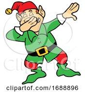 Cartoon Christmas Elf Dabbing