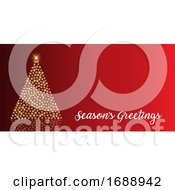 Christmas Background With Tree Of Baubles