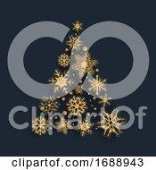 Glittery Snowflake Christmas Tree Design