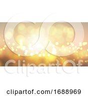 Golden Bokeh Lights Banner