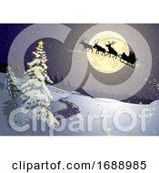 Santas Sleigh Background