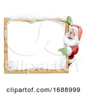 Santa Claus Sign Christmas Cartoon