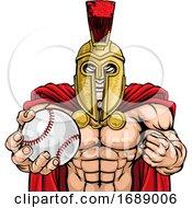 Poster, Art Print Of Spartan Trojan Baseball Sports Mascot