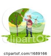 Farmer Picking Apples