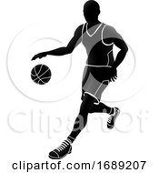 Poster, Art Print Of Basketball Player Silhouette