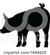 Poster, Art Print Of Pig Silhouette Farm Animal