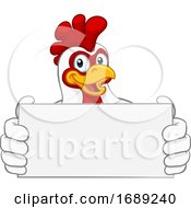 Chicken Rooster Cockerel Cartoon Character Sign