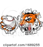 Tiger Tennis Player Animal Sports Mascot