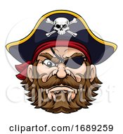 Pirate Captain Cartoon Character Mascot