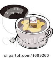 Poster, Art Print Of Tea Bag Peeing In A Cup