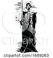 Woodcut Knight