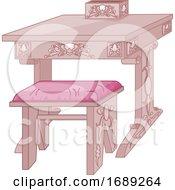 Pink Princess Desk
