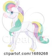 Cute Pony With Rainbow Hair