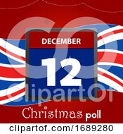 Poster, Art Print Of British Christmas Poll Date Background